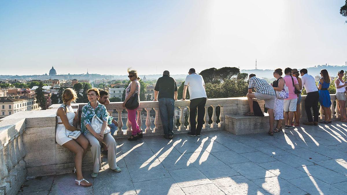 Pincio Terrace Viewpoint Scenic Views In Villa Borghese